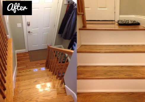 entryway stair renovation