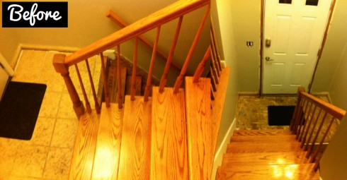 redoing entryway stairs